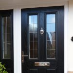 black-composite-front-door